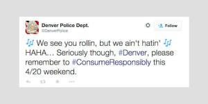 Denver Police 4/20 Tweet
