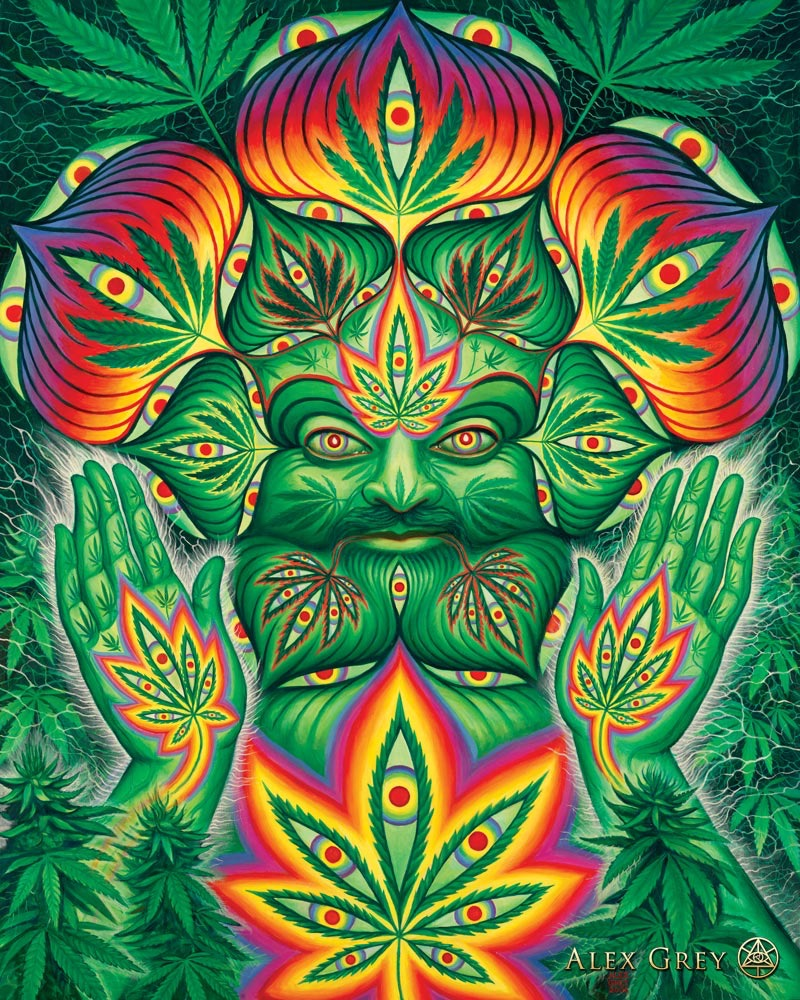 Alex Grey Cannabacchus