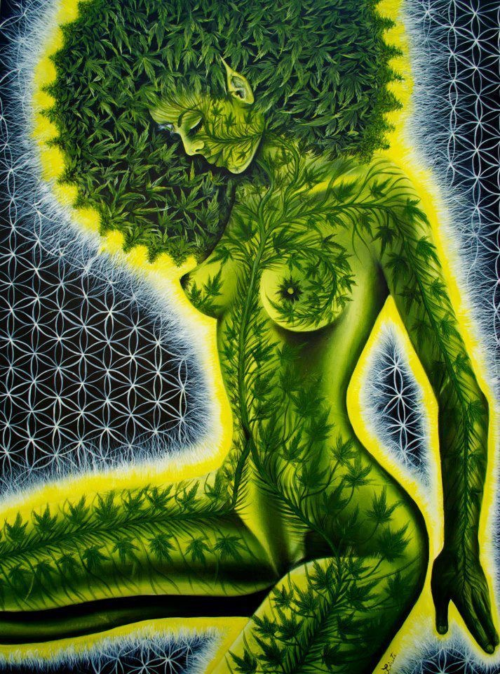 Alex Grey Cannabis Woman