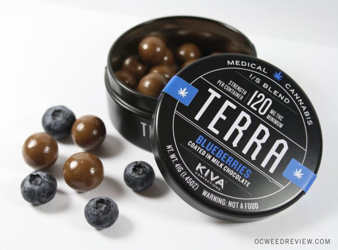 Kiva Confections Terra Bites Chocolate Covered Blueberries