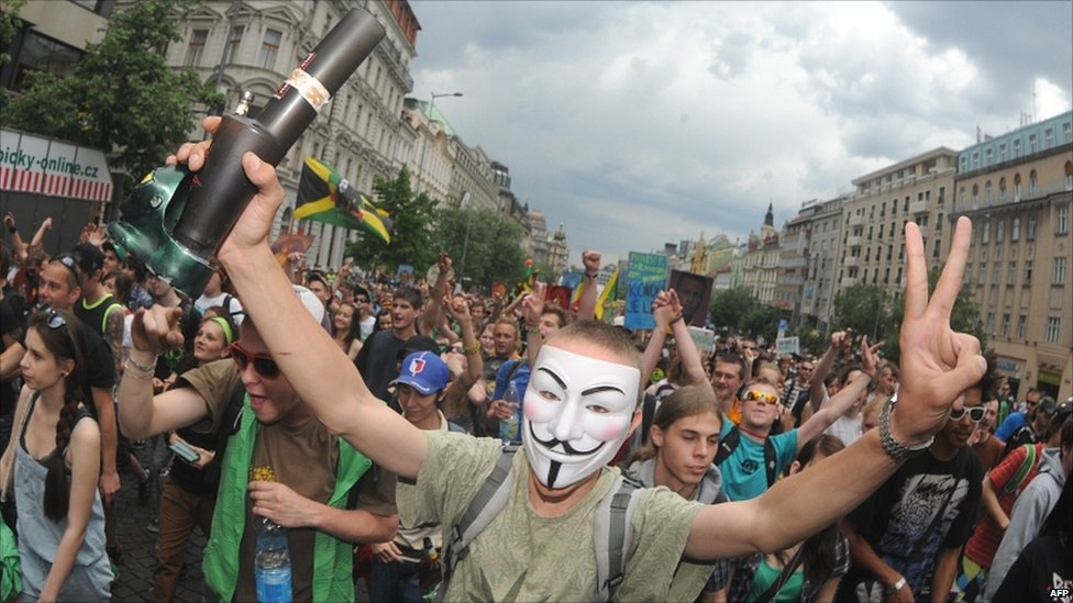 Legalize Cannabis March in Prague