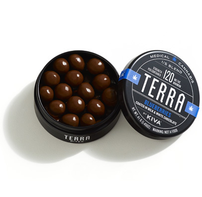 Kiva Terra Bites Blueberry - Green Coyote Marijuana Dispensary
