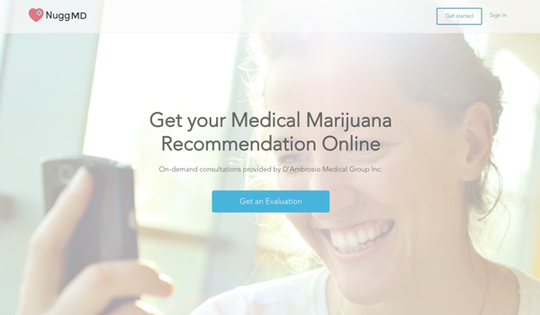 NuggMD Medical Marijuana Evaluation Online
