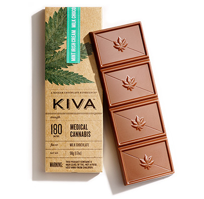 Kiva Bar Mint Irish Cream