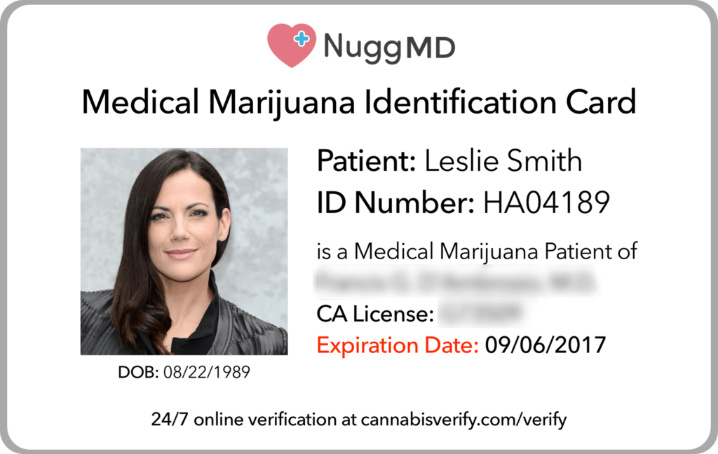 Medical Marijuana Card California