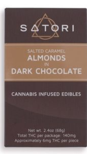 Salted Caramel Almonds in Dark Chocolate chocolates