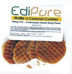 Caramel Waffle Sandwich Cookies