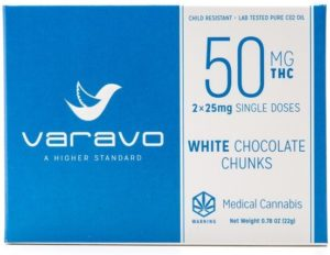 White Chocolate Chunks 50mg chocolates
