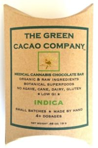 Indica Chocolate Bar healthy edibles green cacao company