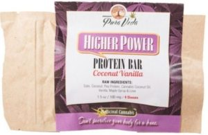 "Coconut Vanilla ""Higher Power"" Protein Bar healthy edibles"