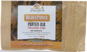 "Chocolate Chip ""Higher Power"" Protein Bar healthy edibles"