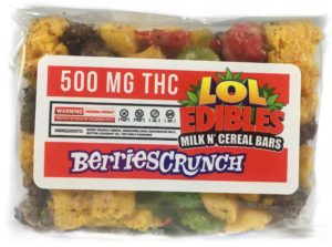 LOL Edibles krispy cereal bars