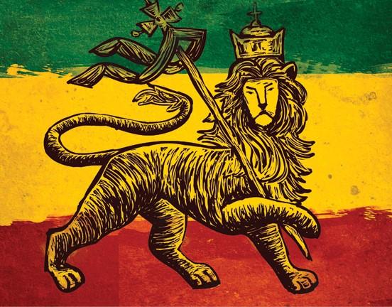 Rastafarian stereotype flag