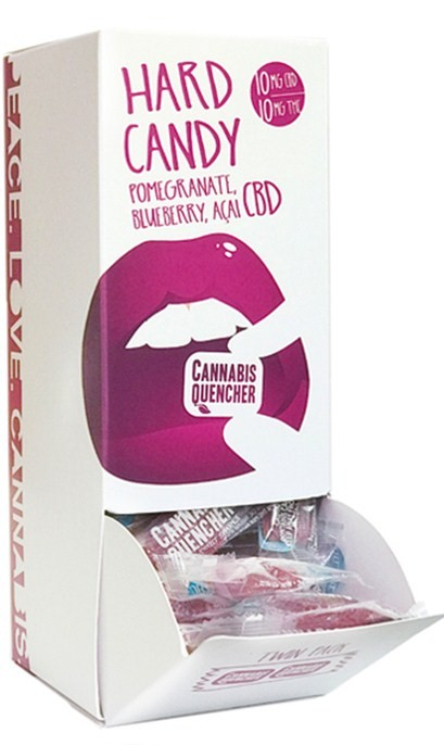 Pomegranate-Blueberry-Acai CBD Cannabis Quencher Hardy Candies