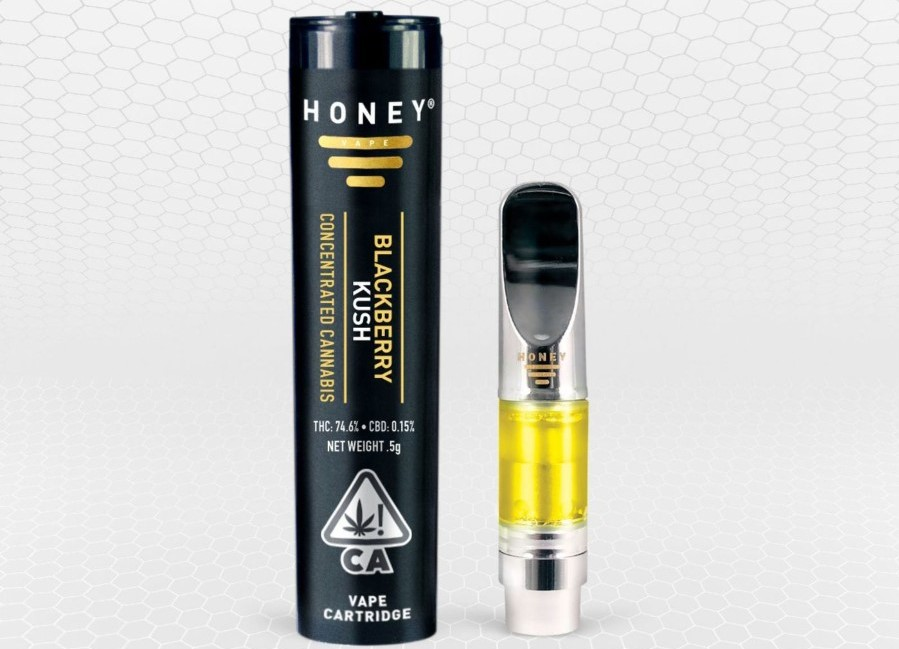 HoneyVape .5g Blackberry Kush Cartridge
