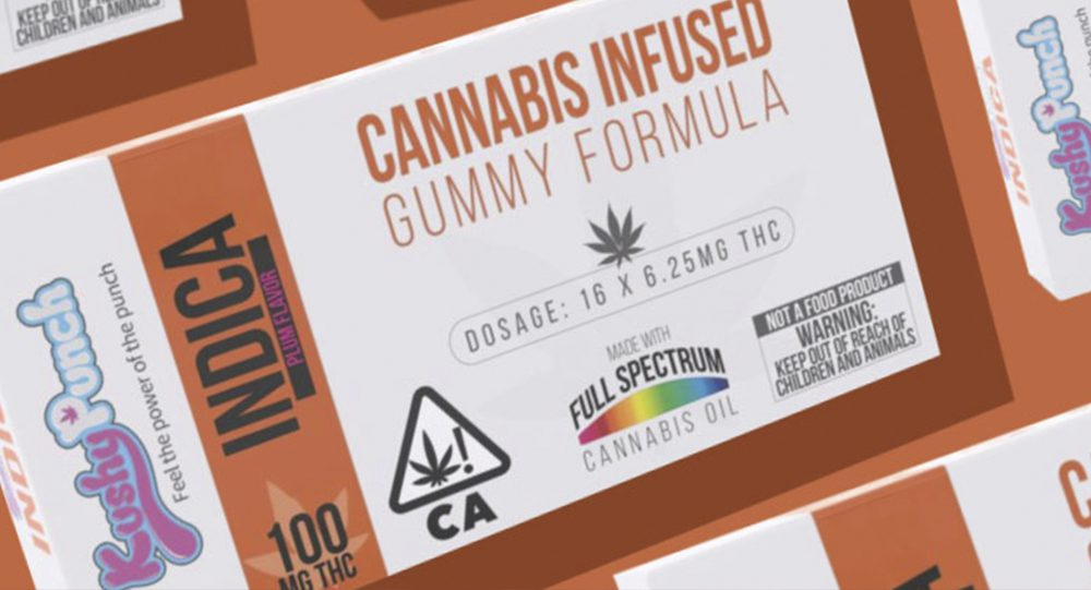 Kushy Punch Plum Flavored Indica Gummy Edible (2018 Review