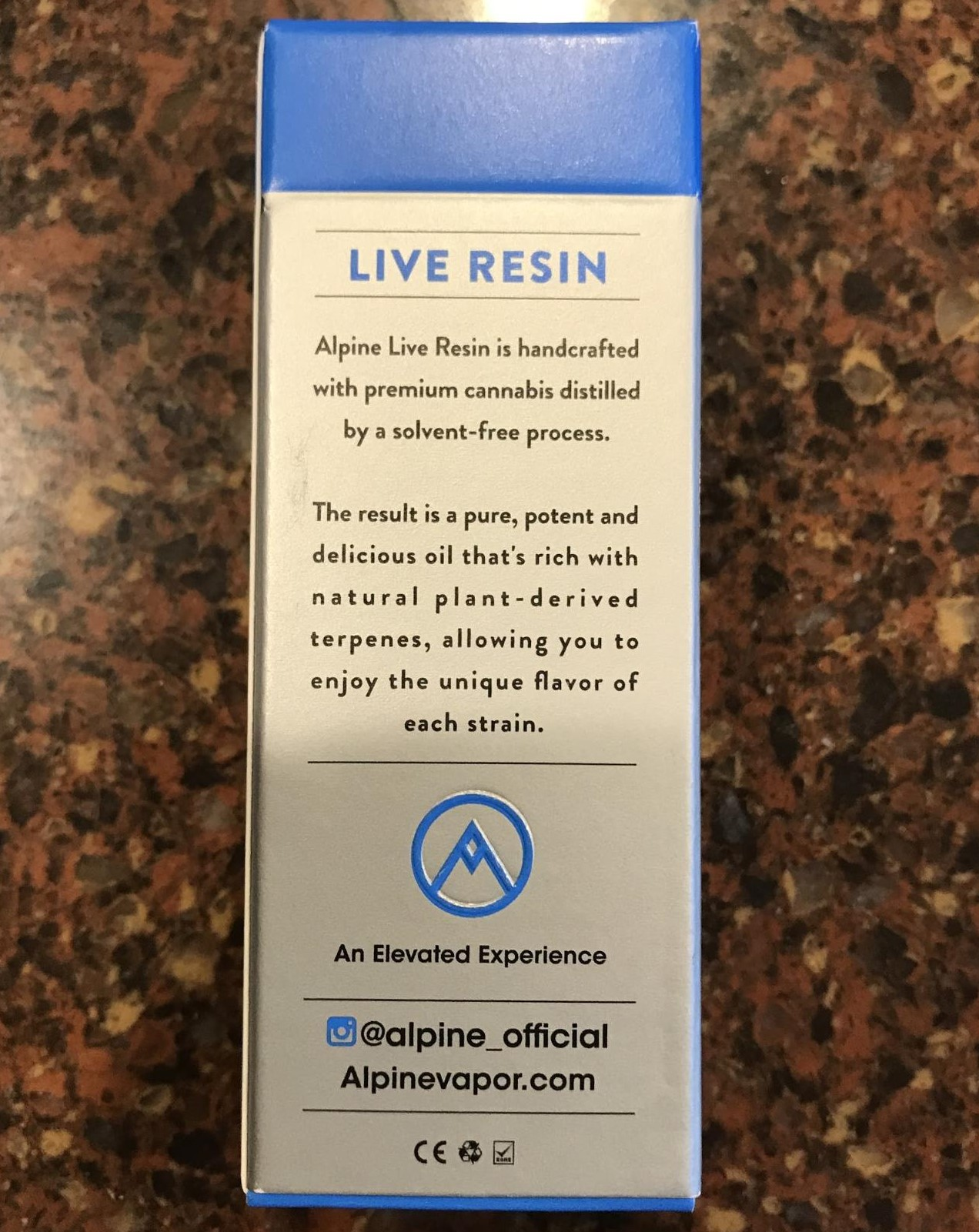 Alpine Vapor Live Resin Granddaddy Purple Cartridge (2019