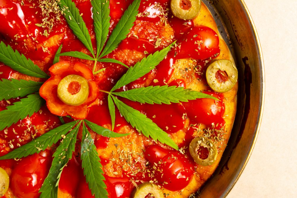 Cannabis-infused pizza